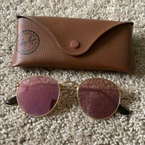 Ray Ban Pink Round Sunglasses